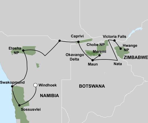 De Trans Afrika Safari (23 dagen)
