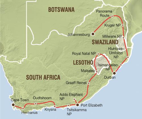 Klassiek Zuid Afrika (24 dagen)