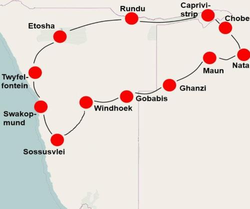 De hoogtepunten Namibië Botswana (24 dagen)