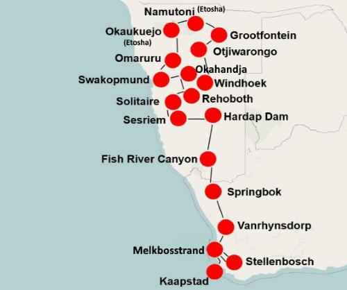 Zuid Afrika Namibië per camper (24 dagen)