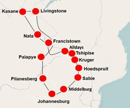 Zuid Afrika, Botswana Victoria Falls (22 dgn)