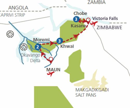 Botswana in vogelvlucht (11 dagen)