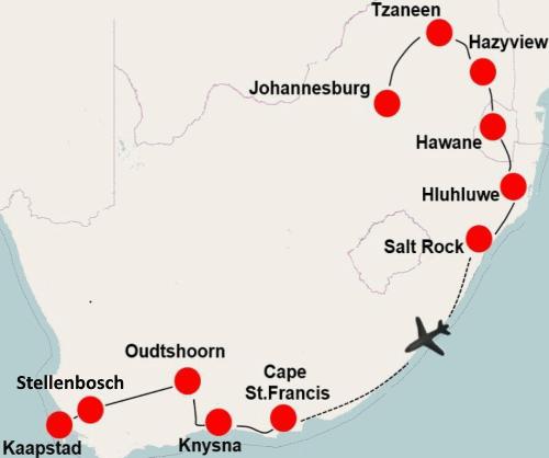 Highlights of South Africa (20 dagen)