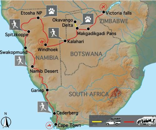 Sfeerimpressie Belevenis van Kaapstad tot Victoria watervallen (24 dagen)