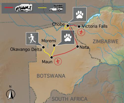 Sfeerimpressie De wildparken van Botswana (15 dagen)