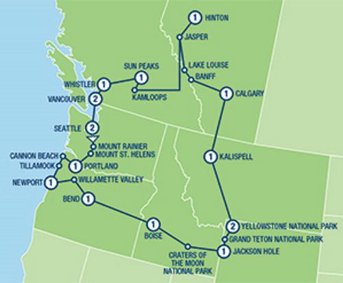 Sfeerimpressie Pacific Northwest and the Canadian Rockies Tour (18 dagen)