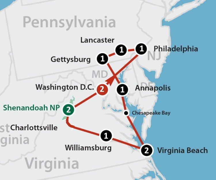 Sfeerimpressie Explore the Capitol Region (13 dagen)