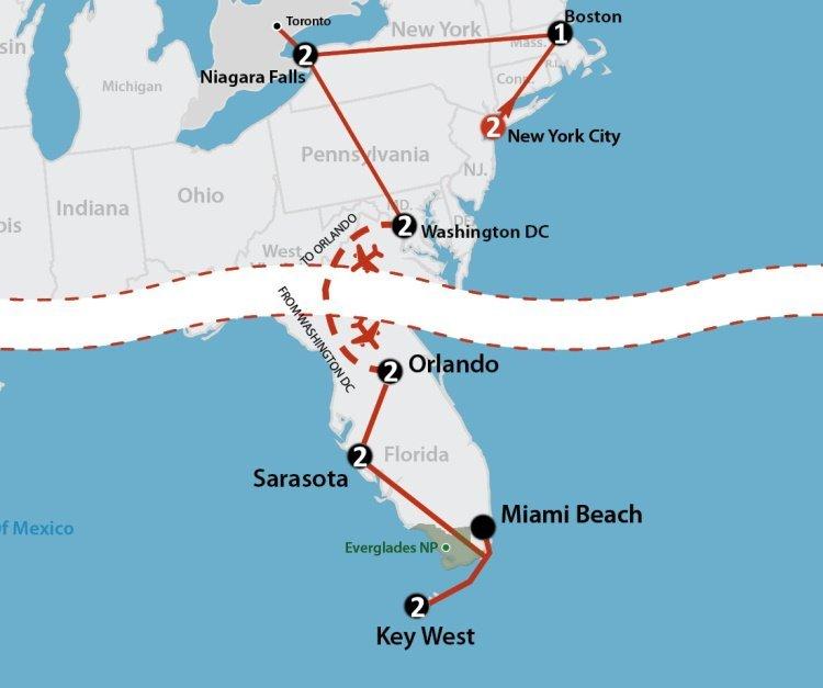 America's East Coast (15 dagen)