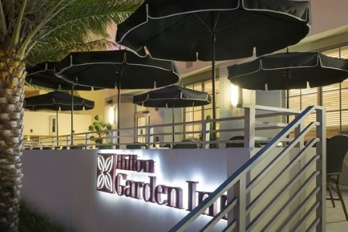 Hilton Garden Inn South Beach terras buiten