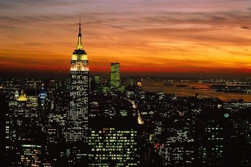 Manhattan skyline evening 002