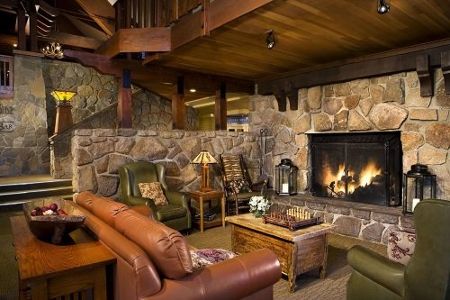 Mammoth Mountain Inn openhaard
