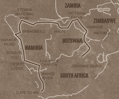 Op avontuur door Namibië, Botswana & Zimbabwe (26 dagen)