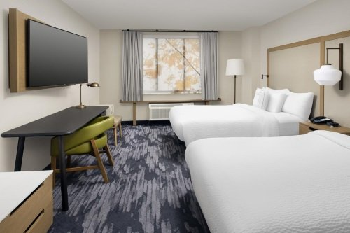 Fairfield Inn Suites by Marriott Alexandria Landmark kamer